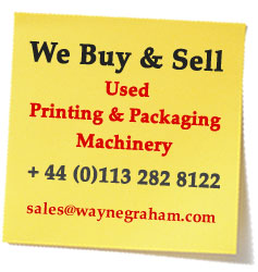 Post-It Note - We Buy & Sell Secondhand or Used Printing & Packaging Machines & Equipment from Bobst, Heidelberg, KBA, Roland, Komori, Muller Martini etc - Telephone +44 113 282 8122 or email sales@waynegraham.com