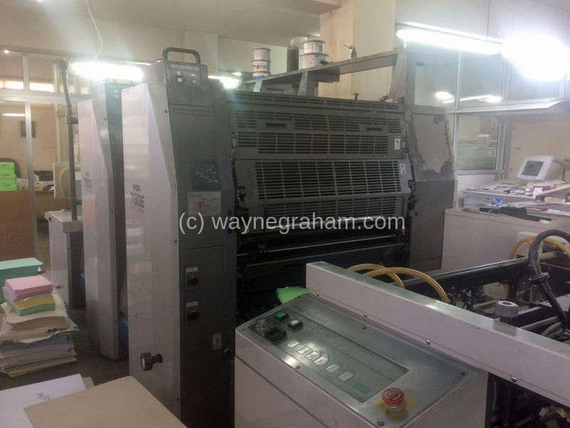 Image of Used Ryobi 782 E Two Colour Printing Press