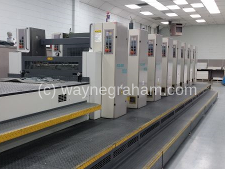 Image of Used Roland 707 3B TL Seven Colour Printing Press For Sale