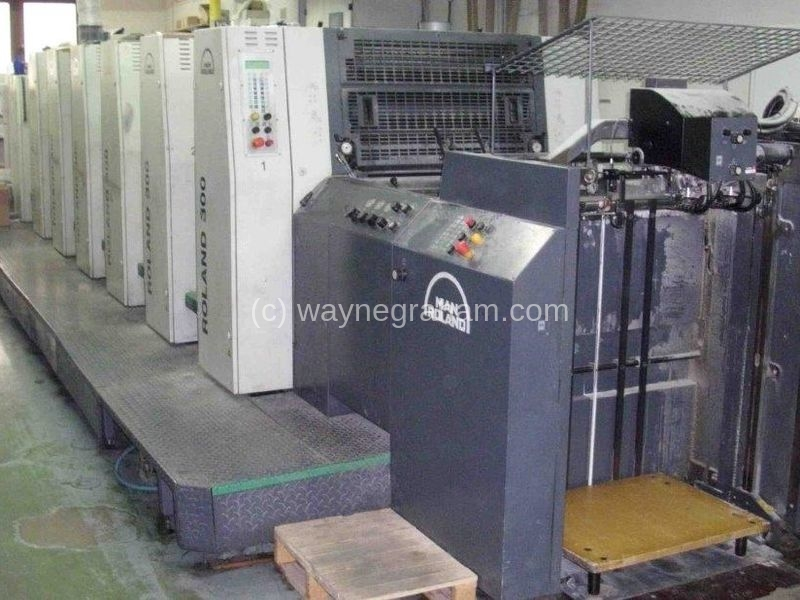 Image of used Roland 306 HOB+L Six Colour Printing Press With Coating Unit For Sale