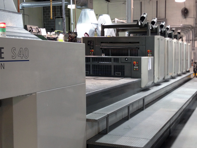 Image of used Komori Lithrone S 640+C printing press