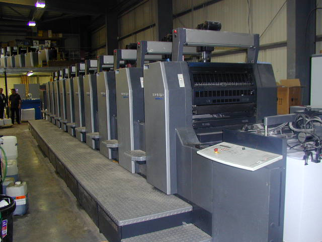 Image of Used Heidelberg Speedmaster 74-10-P-H Ten Colour Printing Press For Sale