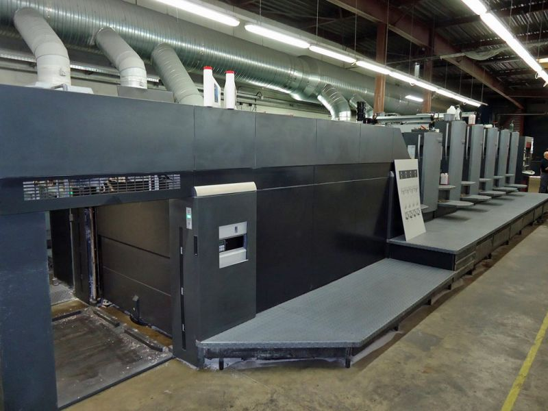 Image of Used Heidelberg SM CD 102-5-LX Five Colour Printing Press With Coater