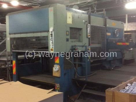 Image of Used Iberica AR-80 Die Cutter With Stripping Unit For Sale