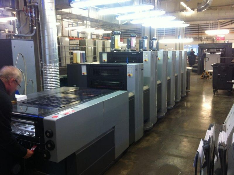 Image of Used Heidelberg Speedmaster SX 52-5-L Five Colour Printing Press With Coating Unit For Sale