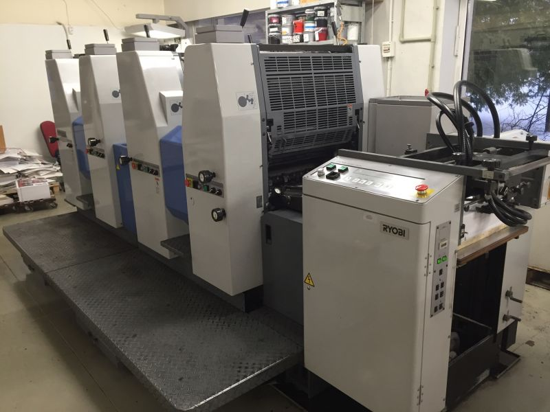 Image of Used Ryobi 524 HXX Four Colour Printing Press For Sale