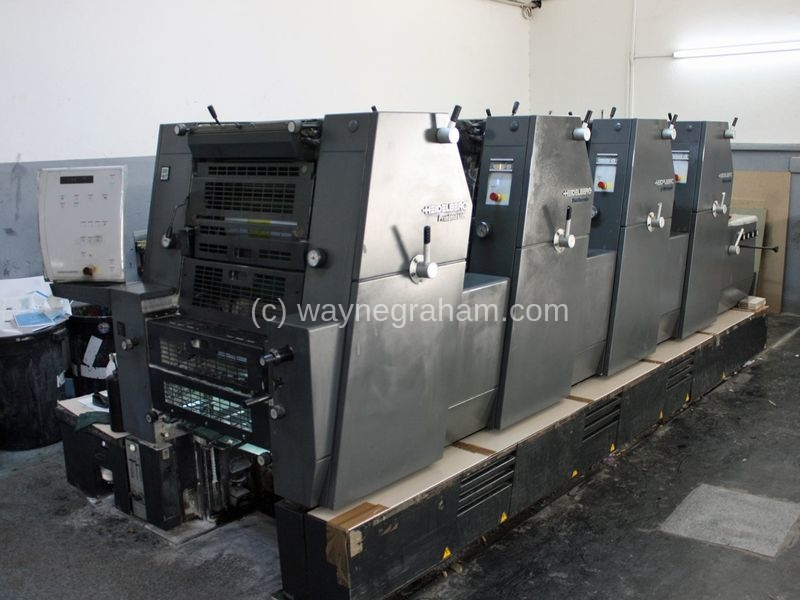 Image of Used Heidelberg Printmaster GTO 52-4 Four Colour Printing Press