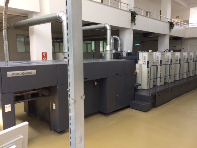 Image of Used Roland 706 3B TLV Six Colour Printing Press With Coating Unit For Sale