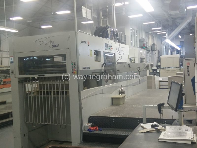 Image of Used Bobst SPeria 106-LE Die Cutting Autoplatine For Sale