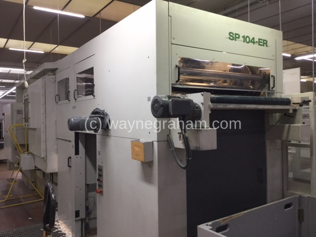 Image of Used Bobst SP 104-ER Die Cutter With Stripping And Blanking Units For Sale