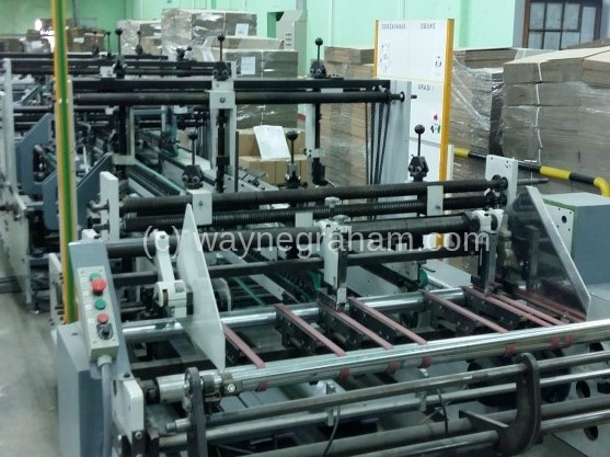 Image of Used Bobst Dynamic 130 Folding Carton Gluer For Sale