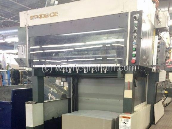 Image of Used Bobst SP 102-CE Die Cutter With Stripping Unit For Sale.