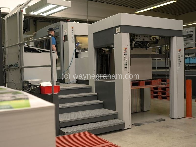 Image of Used Heidelberg Dymatrix 106 Pro CS Die Cutter With Stripping Unit For Sale