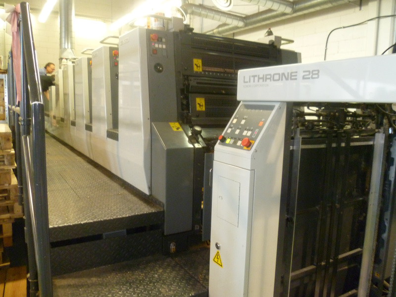 Image of Used Komori Lithrone 528 EM+C Five Colour Printing Press With Coating Unit For Sale