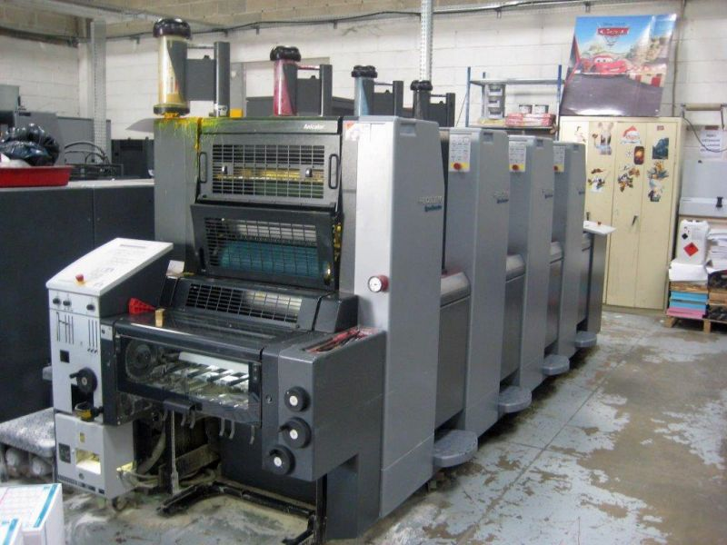 Image of Used Heidelberg Speedmaster 52-4 Four Colour Anicolor Printing Press For Sale