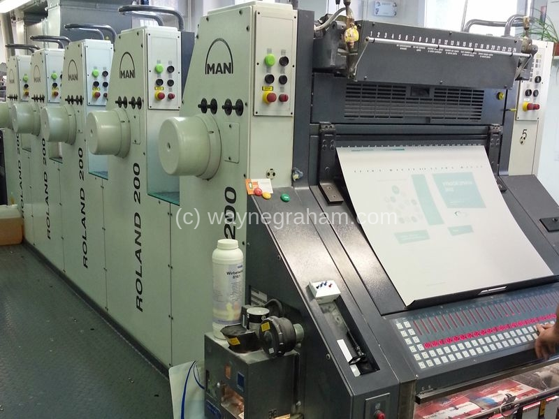 Image of Used Roland 205 E Five Colour Printing Press For Sale