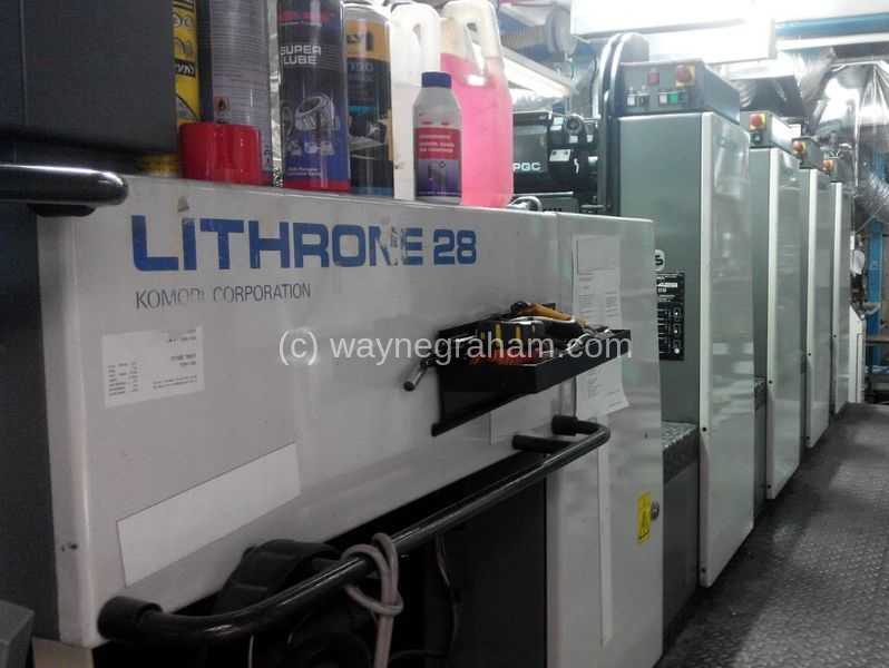 Image of Used Komori Lithrone 428 EM Four Colour Printing Press With UV Dryer