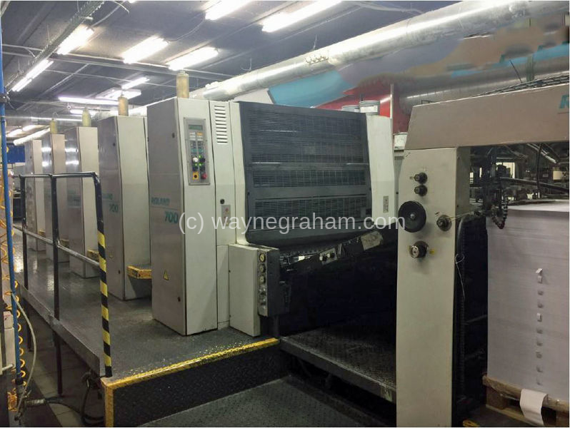 Image of Used Roland 705 3B Five Colour Printing Press