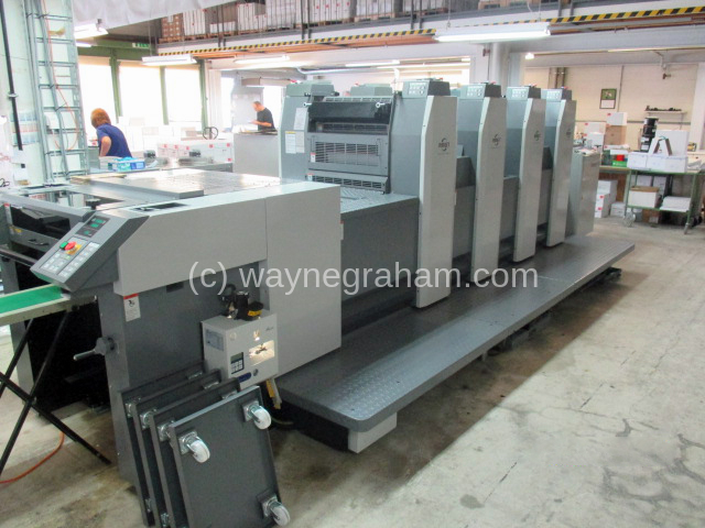 Image of Used Ryobi 524 GX Four Colour Printing Press With LED UV Dryer For Sale