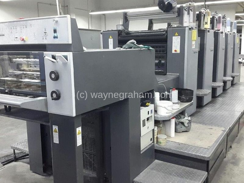 Image of Used Heidelberg Speedmaster 74-5-P-H Five Colour Printing Press For Sale