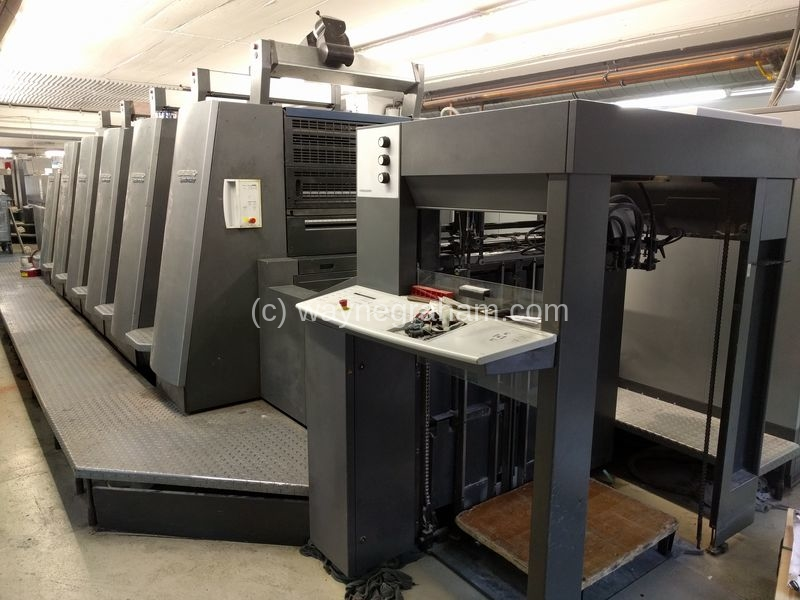 Image of Used Heidelberg Speedmaster CD 74-5-LX Five Colour Printing Press With Coating Unit