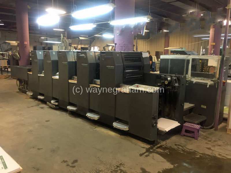 Image of Used Heidelberg Speedmaster 52-5-H Five Colour Printing Press For Sale