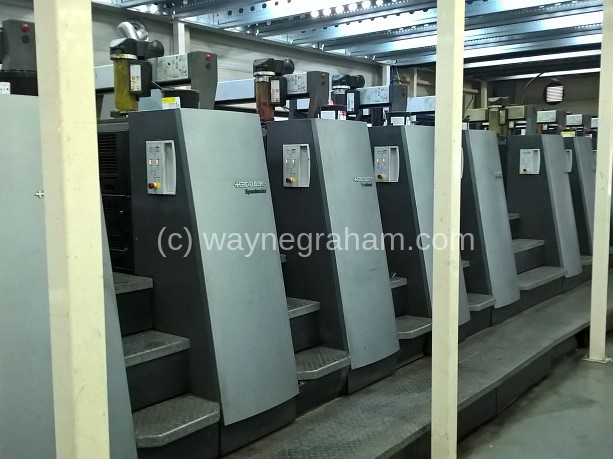 Image of Used Heidelberg Speedmaster CD 74-10-P-H Ten Colour Printing Press With Interdeck UV Drying