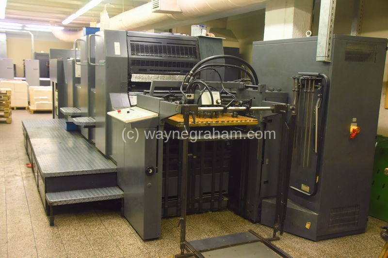 Image of Used Heidelberg Speedmaster 74-2-H-L Two Colour Printing Press With Coating Unit