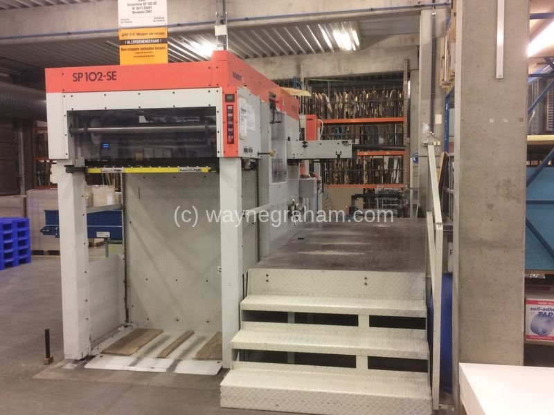 Image of Used Bobst SP 102-SE Die Cutter With Stripping Unit