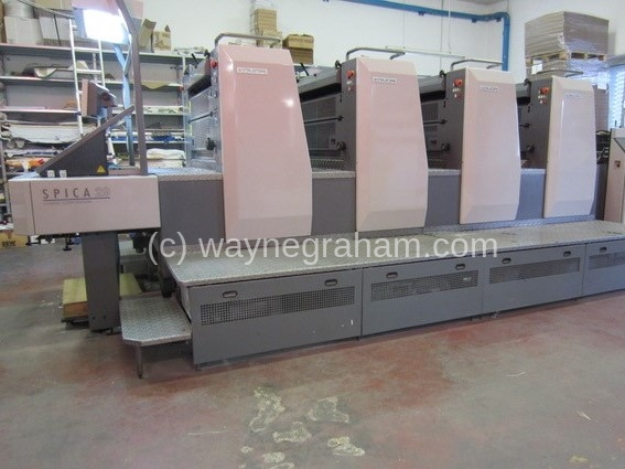 Image of Used Komori Spica 429 Four Colour Printing Press