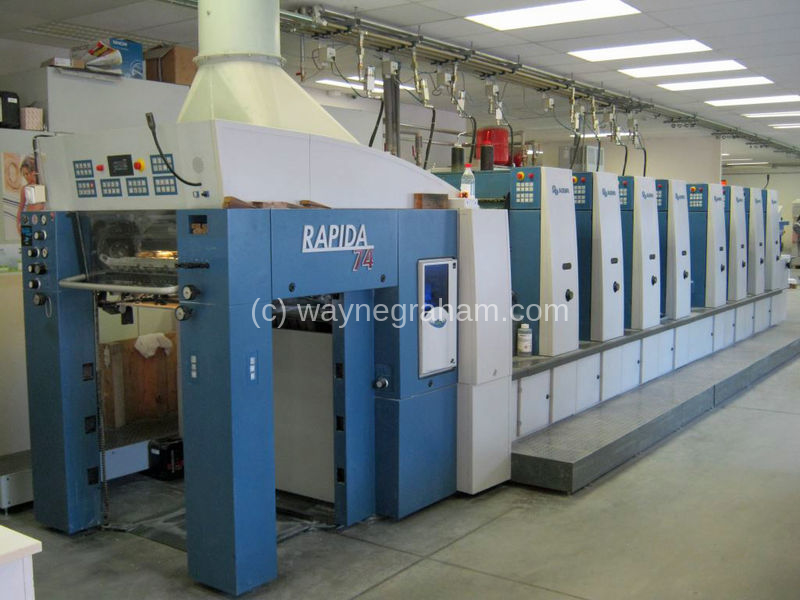 Image of Used KBA Rapida 74-8 Eight Colour Printing Press