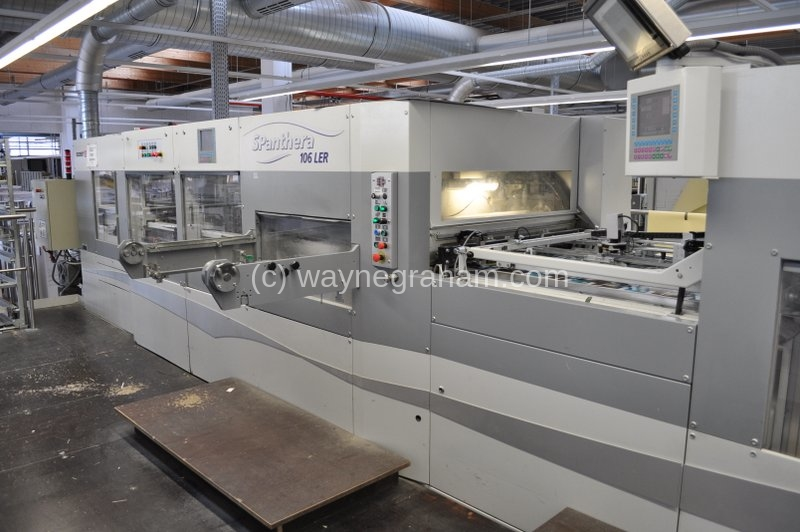 Image of Used Bobst SPanthera 106-LER Die Cutter With Stripping And Blanking Units