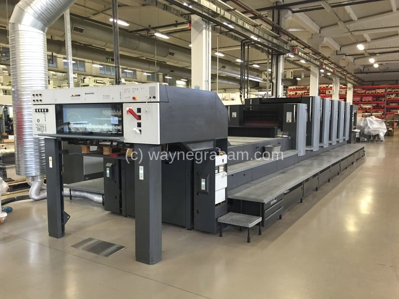 Image of Used Heidelberg Speedmaster 102-5-P-LX  Five Colour Printing Press With Coating Unit