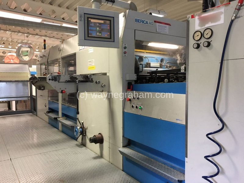 Image of Used Iberica JRK-105 Die Cutter With Stripping And Blanking Units