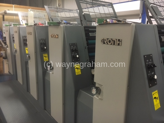 Image of Used Hans Grohni GH525 Five Colour Printing Press