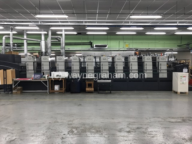 Image of Used Roland 506 OB PLTTLV Six Colour Printing Press With Two Coating Units And UV Drying