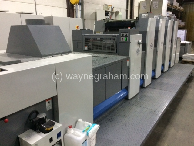 Image of Used Ryobi 524 GX+L Four Colour Printing Press With Coating Unit
