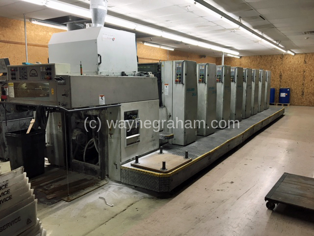 Image of Used Roland 308 HOB Eight Colour Printing Press