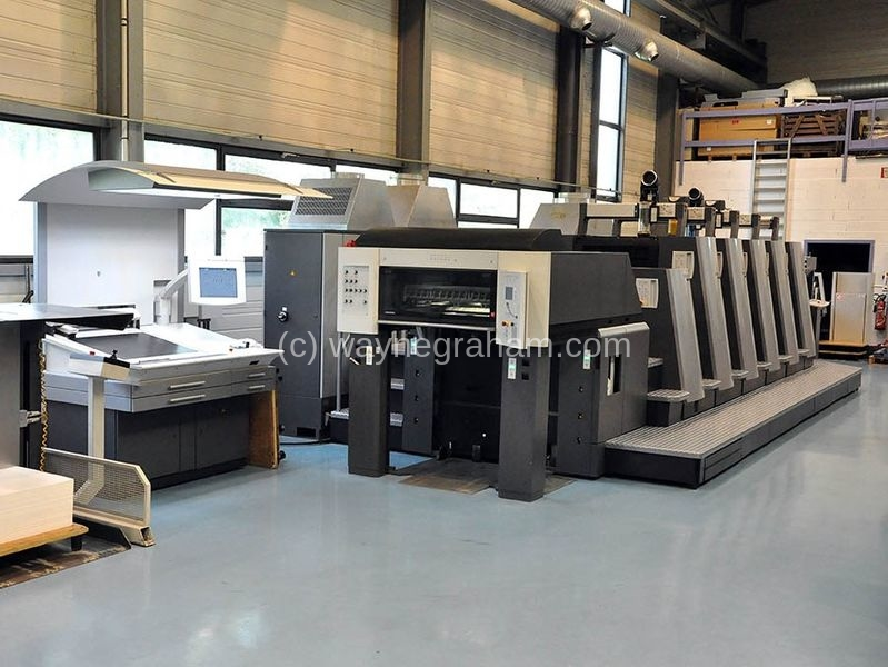 Image of Used Heidelberg SM CD 74-5-L Five Colour Printing Press With Coating Unit