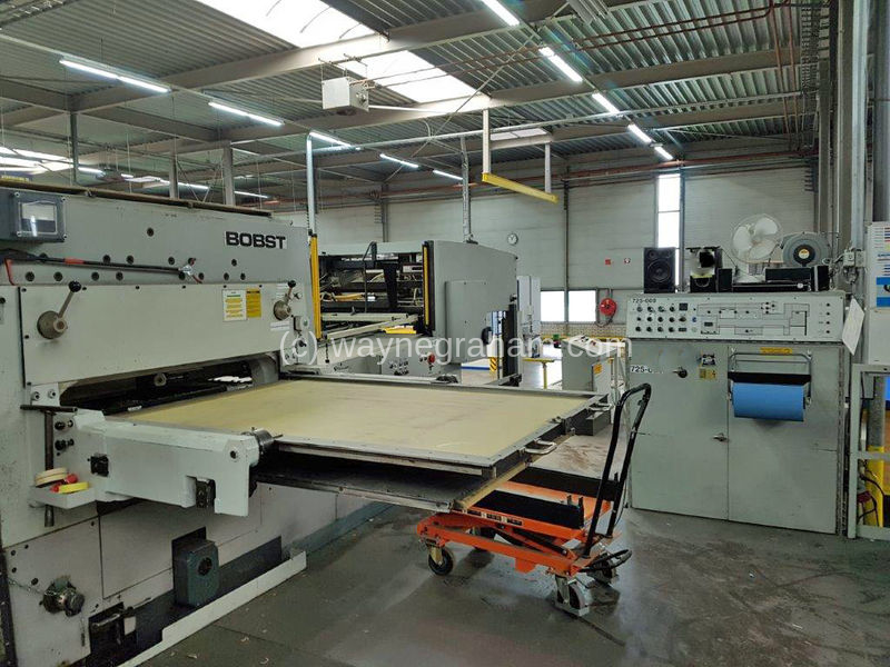 Image of Used Bobst SP 1600-E Die Cutter With Stripping Unit