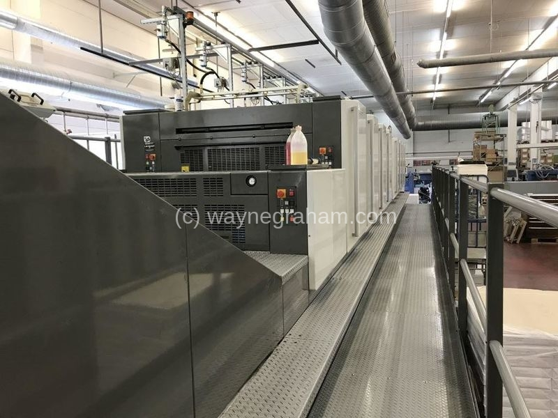 Image of Used Komori Lithrone S 840 P+C Eight Colour Printing Press With Coating Unit