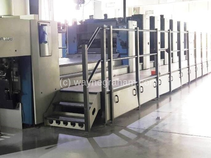 Image of Used KBA Rapida 105-6+L CX Six Colour Printing Press With Coating Unit