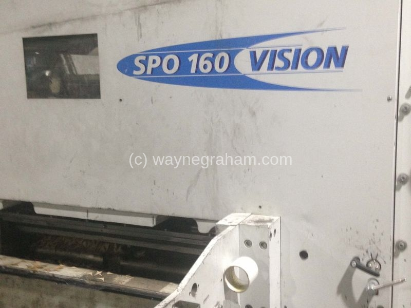 Image of Used Bobst SPO 160 Vision Corrugated Die Cutter With Stripping Unit