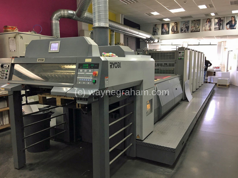 Image of Used Ryobi 755-S-D Five Colour Printing Press With Coating Unit And Interdeck UV Dryers