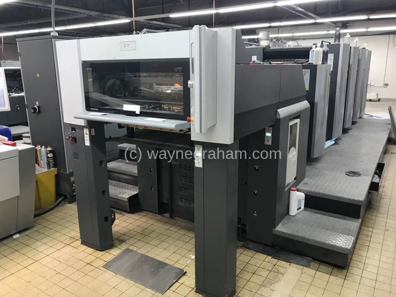 Image of Used Heidelberg Speedmaster 74-4-H-L Four Colour Printing Press With Coating Unit