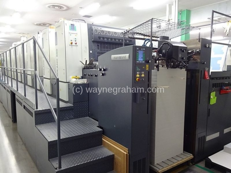 Image of Used Roland 510+L Ten Colour Printing Press With Coating Unit And Interdeck UV Dryers
