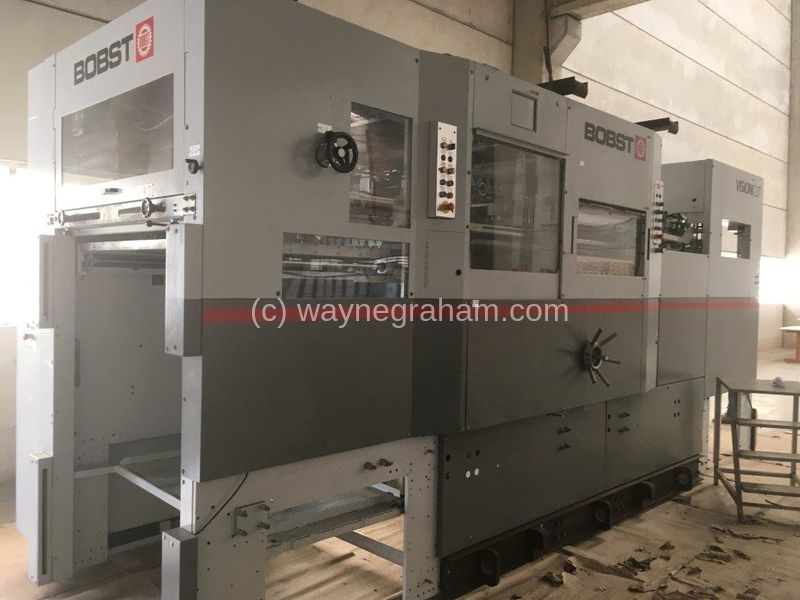 Image of Used Bobst Visioncut 106-LE Die Cutter With Stripping Unit
