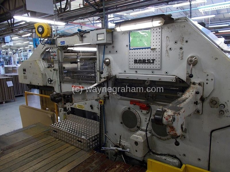 Image of Used Bobst SP 1420-E Die Cutter With Stripping Unit