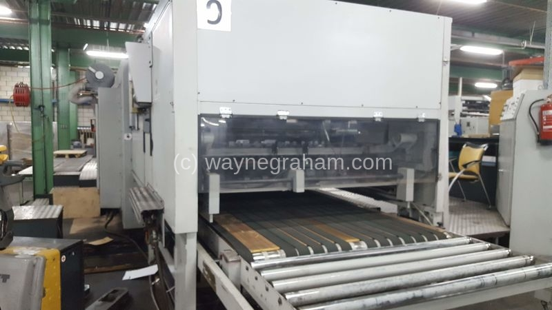 Image of Used Bobst SPO 1600 Corrugated Die Cutter With 4 Colour Flexographic Print Units