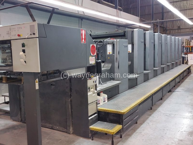 Image of Used Heidelberg Speedmaster 102-8-P-P-L Eight Colour Printing Press With Coating Unit